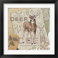 Framed Deer Play