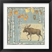 Framed Moose (blue background)
