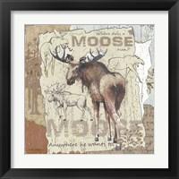 Framed Moose (background text)