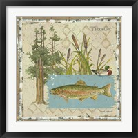 Trout Postcard Framed Print