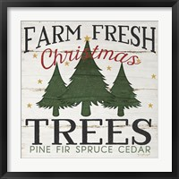 Framed Farm Fresh Christmas Trees