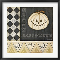 Framed Happy Halloween Pumpkin