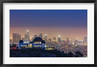 Framed L.A. Skyline with Griffith Observatory