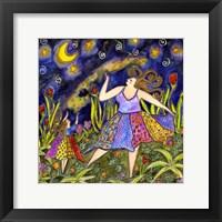Framed Big Diva & Fireflies