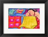 Framed Big Diva Hanging Laundry To Dry