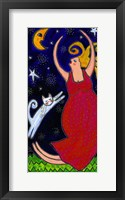 Framed Big Diva Moonlight Goddess Dancing