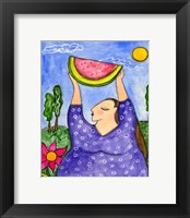 Framed Big Diva With Watermelon