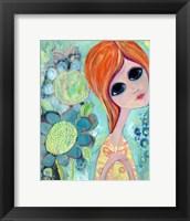 Framed Big Eyed Girl Hope Garden
