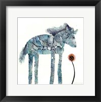Framed Blue Painted Pony