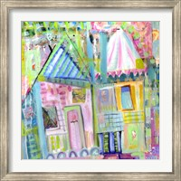 Framed Downtown Houses