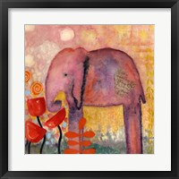Framed Flower Monger Elephant