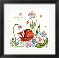 Framed Fox Napping In The Garden