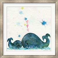 Framed Love You Whales