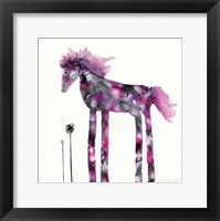 Framed Pink Painted Pony