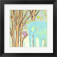 Framed Quiet Time Elephant