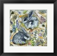 Framed Rainy Day Rabbits