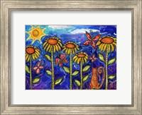 Framed Sundown Sunflowers