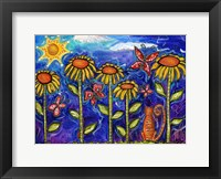 Framed Sundown Sunflowers