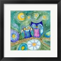 Framed Wishing the Night Away Owls