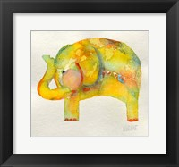 Framed Yellow Elephant