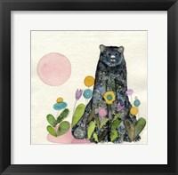 Framed Garden Bear