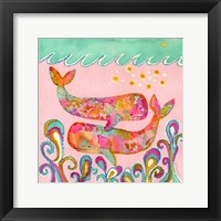 Framed Pink Whales