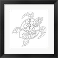 Framed Hawaiian Turtle