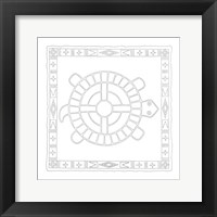 Framed Lakota Sioux Turtle