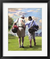 Framed Golfing Buddies