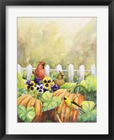 Framed Cardinals in Pumpkin Patch