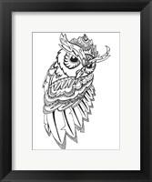 Framed Flashing Owl