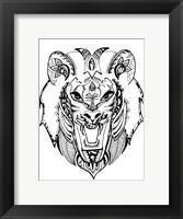 Framed Mean Lion