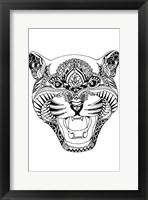 Framed Tiger Fat Face
