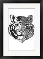 Framed Tiger Half And Half