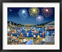 Framed Lakeside on the Fourth