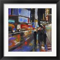 Framed Broadway at Night