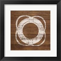 Framed Life Saver On Wood
