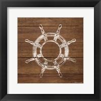 Framed Wheel On Wood