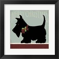 Framed Scottie Merry Christmas