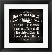 Framed Bath Rules B&W