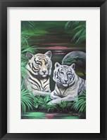 Framed Fantasy Tigers