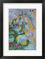 Framed Rainbow Unicorns
