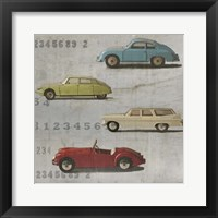 Framed Vintage Cars