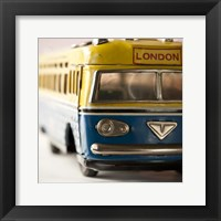Framed Yellow Bus
