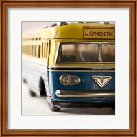 Framed Yellow Bus