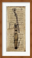 Framed Violin Music