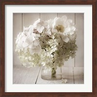 Framed White Flower Vase