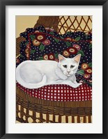 Framed Snowball In A Wicker Chair