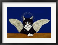 Framed Angel Cat