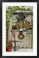 Framed Christmas Donkies